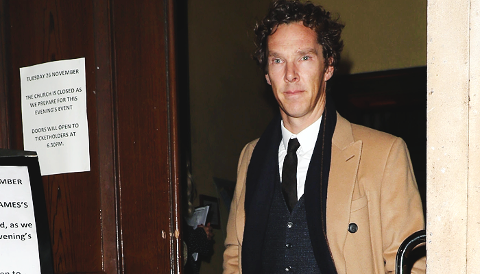 Benedict attends The Fayre of St James charity Christmas concert